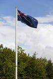 De nationale Vlag van Nieuw Zeeland Stock Foto