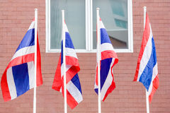 De Nationale Vlag van Thailand Royalty-vrije Stock Foto's