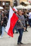 De nationale Vlagdag van de Republiek Polen (door het Akte van 20 Februari 2004) vierde tussen de vakantie Stock Fotografie