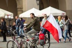 De nationale Vlagdag van de Republiek Polen (door het Akte van 20 Februari 2004) vierde tussen de vakantie Stock Foto