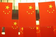 De Nationale Vlaggen van China Royalty-vrije Stock Afbeeldingen