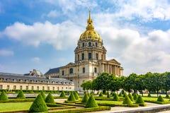 De Nationale Woonplaats van Lesinvalides van Invalids in Parijs, Frankrijk stock foto