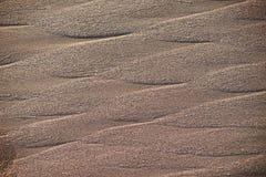 De natte textuur van het strandzand royalty-vrije stock fotografie