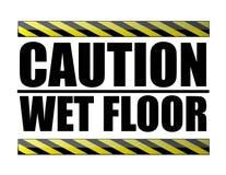De natte vloer van de voorzichtigheid vector illustratie
