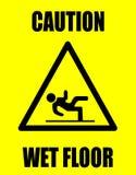 De natte vloer van de voorzichtigheid Stock Fotografie