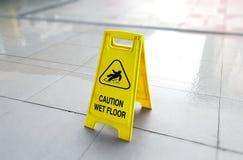 De Natte Vloer van de voorzichtigheid Stock Foto's