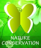 De natuurbeschermingvlinder toont Behoud 3d Illustratie vector illustratie