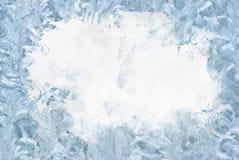 De natuurlijke achtergrond van het ijs Stock Foto