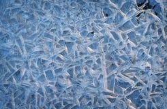 De natuurlijke achtergrond van het ijs Stock Fotografie