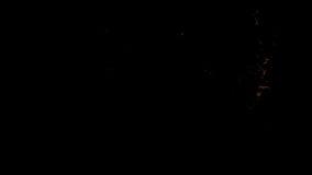 De natuurlijke brand flakkert omhoog en verdwijnt weg, met alpha- masker langzaam vector illustratie