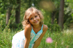 De natuurlijke glimlach van het kind Royalty-vrije Stock Foto