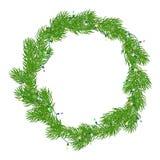 De natuurlijke kroon van Kerstmis Stock Afbeeldingen