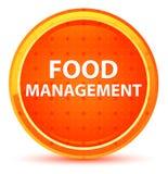 De Natuurlijke Oranje Ronde Knoop van het voedselbeheer stock illustratie