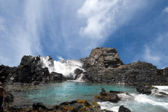 De natuurlijke Pool in Aruba royalty-vrije stock afbeeldingen
