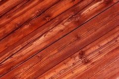 De natuurlijke rode gekleurde panelen van het pijnboomhout als achtergrond Royalty-vrije Stock Fotografie