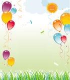 De natuurlijke samenstelling van ballons Stock Fotografie