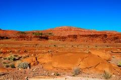 De natuurlijke schoonheid van de rode rotscanions en het zandsteen van Sedona in Arizona stock foto