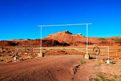 De natuurlijke schoonheid van rood rotscanions en zandsteen in Arizona De V.S. stock foto's
