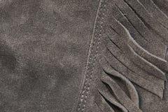 De natuurlijke tan textuur van het kleurensuède Stock Fotografie