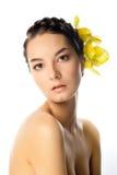 De natuurlijke vrouw van de Schoonheid Royalty-vrije Stock Foto's