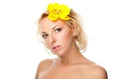 De natuurlijke vrouw van de Schoonheid Stock Fotografie