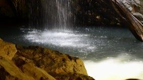 De natuurlijke Waterval van de Brug stock footage