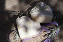 De natuurlijke zeep van de lavendel royalty-vrije stock foto