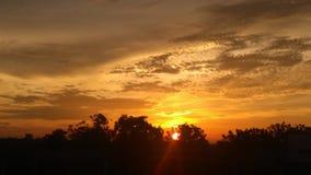 De natuurlijke zon glanst Royalty-vrije Stock Afbeelding
