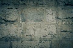 De natuurstenen zijn gevouwen in muur Achtergrond Stock Fotografie