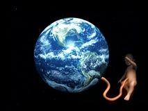 De Navelstreng van de baby In bijlage aan Aarde 5 van de Moeder Royalty-vrije Stock Foto