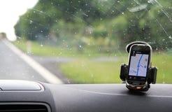 De navigatie van de auto Stock Foto's