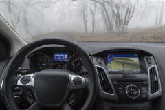 De Navigatie van de auto Stock Afbeeldingen