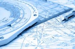 De Navigatie van de luchtroute Stock Foto's