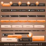 De navigatie van het Web Stock Fotografie