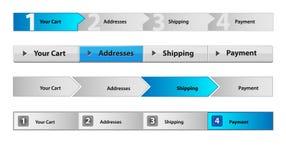 De navigatie van het Web met aantallen Stock Afbeelding