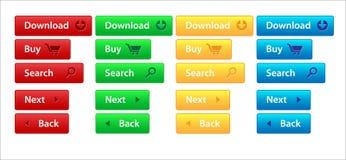 De navigatie van het Web met aantallen Royalty-vrije Stock Fotografie