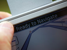 De navigatie van Satallite Royalty-vrije Stock Foto