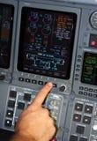 De navigatie van vliegtuigen Stock Fotografie