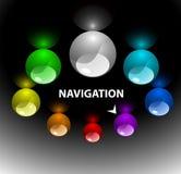De navigatiemalplaatje 3 van het Web (op bovenkant) Stock Afbeeldingen