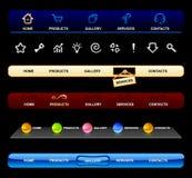 De navigatiemalplaatjes van het Web Royalty-vrije Stock Afbeeldingen