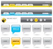 De navigatiemalplaatjes van het Web. Royalty-vrije Stock Afbeeldingen