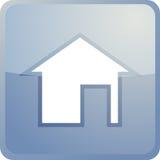 De navigatiepictogram van het huis Stock Foto's