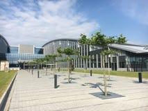 De NAVO hoofdkwartier in Brussel stock foto