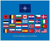 De NAVO leden Stock Afbeeldingen