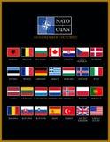 De NAVO leden Stock Foto's