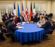 De NAVO top in Nieuwpoort (Wales, het UK) Royalty-vrije Stock Fotografie