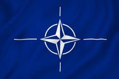 De NAVO vlag Royalty-vrije Stock Foto's