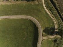 De Nederlandse antenne van de rivierdijk stock afbeelding