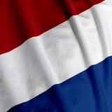 De Nederlandse Close-up van de Vlag Stock Afbeeldingen