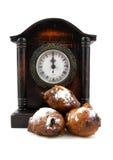De Nederlandse doughnut oliebollen Stock Afbeeldingen